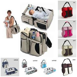 3 in 1 Portable Infant Baby Bassinet Diaper Bag Changing Sta