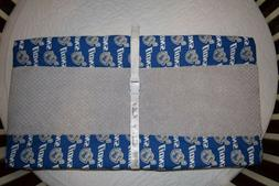 "32"" CHANGING PAD COVER M/W  DETROIT LIONS & GRAY HONEYCOMB F"