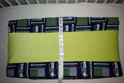 "32"" NEW CHANGING PAD COVER M/W  SEATTLE SEAHAWKS FABRIC"