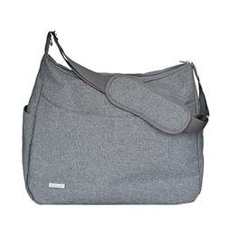 JJ Cole Linden Diaper Bag, Gray Heather