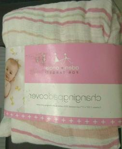 Aden & Anais For Target  Changing Pad Cover Pink Cotton Musl