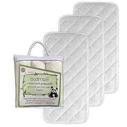 "NEW ANTI SLIP - Larger - 27"" x 14"" - Bamboo Changing Pad Lin"