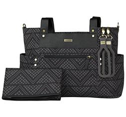 JJ Cole Arrington Diaper Bag, Black Aztec