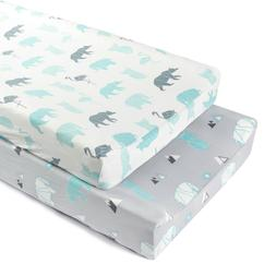 Baby Changing Pad Cover Cuty Animals Type Waterproof Stretch