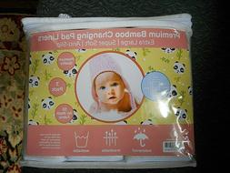 Baby Changing Pad Liners Washable, Ex Large, Waterproof, 3 P