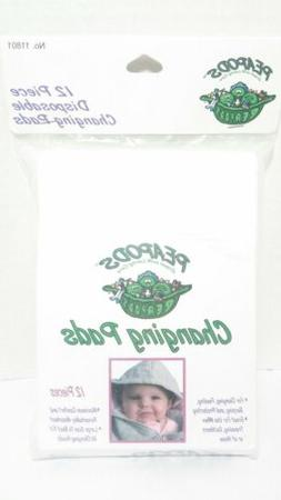 Peapods Baby Disposable Diaper Changing Pads 1 pkg of 12 pad
