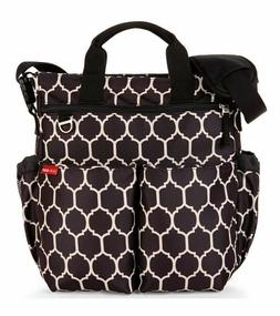 Skip Hop Baby Duo Signature Diaper Bag Onyx Tile With Black
