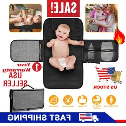 Baby Nappy Bag Diaper Changing Change Pad Clutch Mat Foldabl