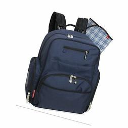 Fisher-Price Blue Denim Deluxe Backpack Diaper Bag