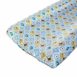 Born Wild Patchwork Changing Pad Cover - Fits Standard Conto