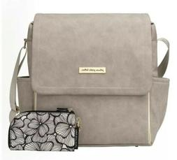 Petunia Pickle Bottom Boxy Backpack In Grey Matte Leatherett