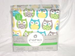 CARTERS OWL STANDARD CHANGING PAD COVER NEW