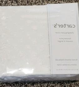 CARTERS White SOFT changing pad cover Fits Standard changing