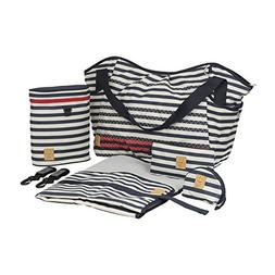 Lassig Casual Twin Diaper Shoulder Bag with Matching Bottle