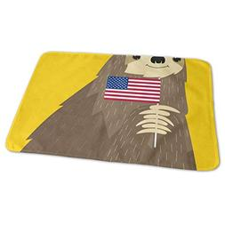 Changing Pad American Flag Sloth Baby Diaper Incontinence Pa