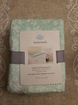Changing Pad Cover Mint Ditsy & Small Security Blanket- Clou