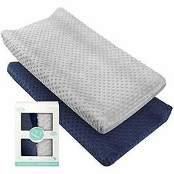 Changing Pad Cover -  Ultra Soft Minky Dots Plush Changing T