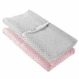 Changing Pad Cover, Ultra Soft Minky Dots Plush Changing Tab