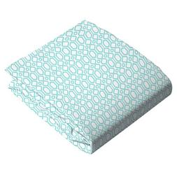 Kushies Changing Pad Fitted Sheet Flannel, Octagon Turquoise