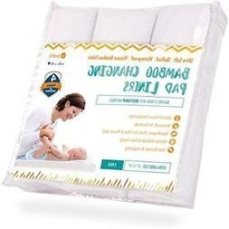 Changing Pad Liners 3 Pack - Waterproof, Ultra-Soft, Made Co
