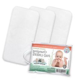 Brooklyn Bamboo Changing Pad Liners 3 Pk SOFT, Hypoallergeni