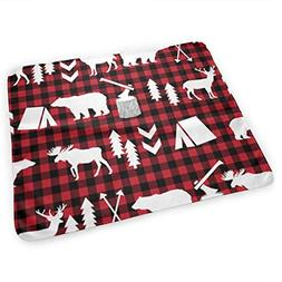 LXXYZ Changing Pad Red Black Buffalo Check Baby Changing Pad