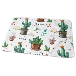Changing Pad Watercolor Cactus Plant Summer Baby Diaper Urin