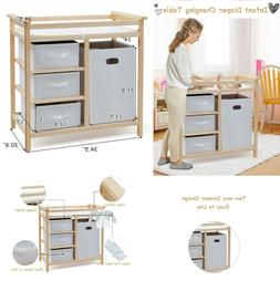 Changing Table Dresser Baby Changing Pad Infant Nursery Furn