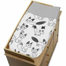 Changing Table Pad Cover For Sweet Jojo Grey Black & White F