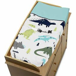 Changing Table Pad Cover For Sweet Jojo Blue Green Mod Dinos