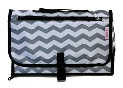 Chevron Portable Changing Pad Baby Diaper Clutch with Zipper
