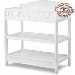 Children Baby Diaper Changing Table with Pad, White