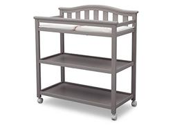 Delta Children Bell Top Changing Table with Casters - Grey