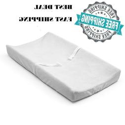 Summer Infant Contoured Changing Pad, 2 Sided Contour, White