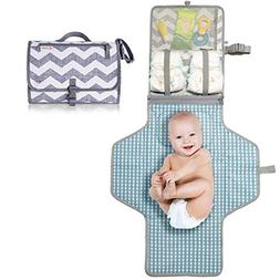CutieB Portable Diaper Changing Pad with Built-in Head Pillo