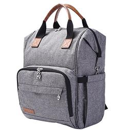 Diaper Bag Backpack, Multi Function Baby Nappy Organizer wit