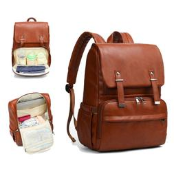 Diaper Bag Backpack Leather Travel Large Capacity Organizer