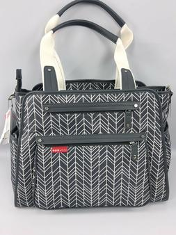 Skip Hop Diaper Bag Grand Central White Grey Baby Changing P