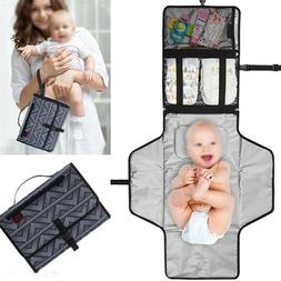 Diaper Changing Pad Baby Folding Portable Mat Travel Wipeabl