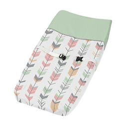 Diaper Changing Table Pad Cover Coral Gray Woodland Arrow Ba