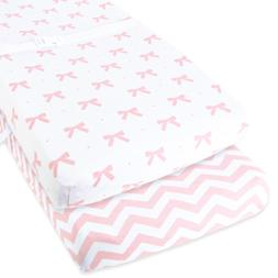 2 Diaper Changing Table Pad Cover Set Cradle Bedding Sheets