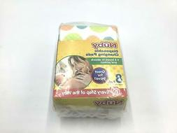 Nuby Disposable Baby Changing Pads 8 Pads 3 Layers to Absorb
