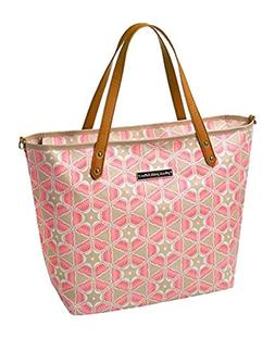 Petunia Pickle Bottom Downtown Tote, Blooming Brixham/Pink,