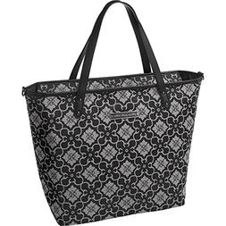 "Petunia Pickle Bottom Downtown Tote In London Mist 14"" x 13"""