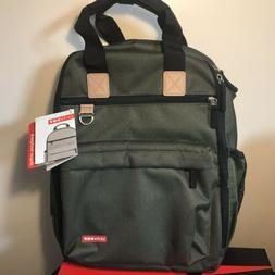 Skip Hop Duo Diaper Backpack With Changing Pad Green NWT STR
