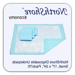 NorthShore Economy, 17 x 24, 6 oz, Blue Disposable Underpads