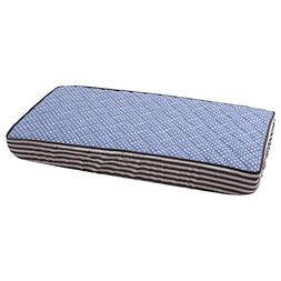 Elephants Blue/Grey Blue pin dots Changing Pad Cover