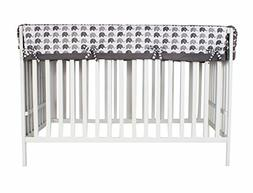 Bacati Elephants Unisex Long Crib Rail Guard Cover Made with