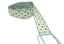 Bacati Elephants Unisex Portable Crib Bumper Pad 100 Percent