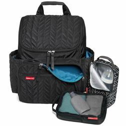 SKIP*HOP Forma Backpack Diaper Bag in Jet Black